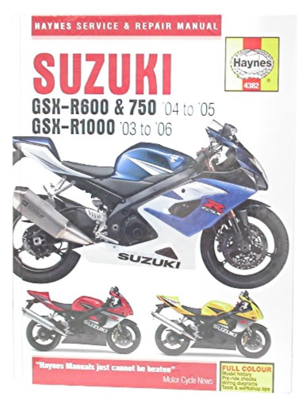 manual haynes for 2005 suzuki gsx r 1000 k5 ebay rh ebay co uk 2005 gsxr service manual pdf 2005 suzuki gsxr 750 service manual pdf