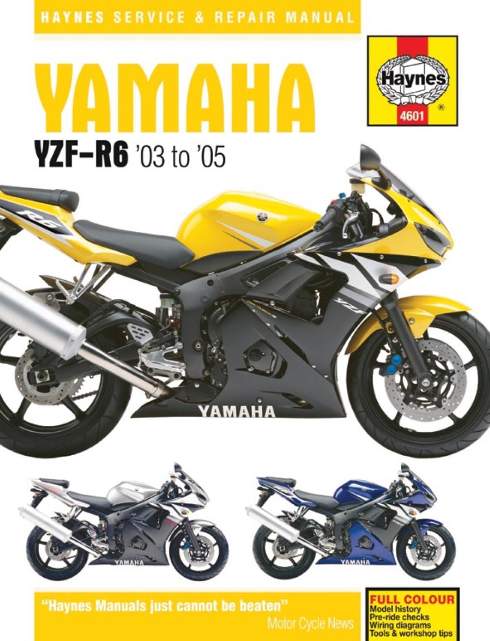 Haynes Manual 4601 Yam Yzf R6 03 05 Ebay Wiring Diagram Image Is Loading