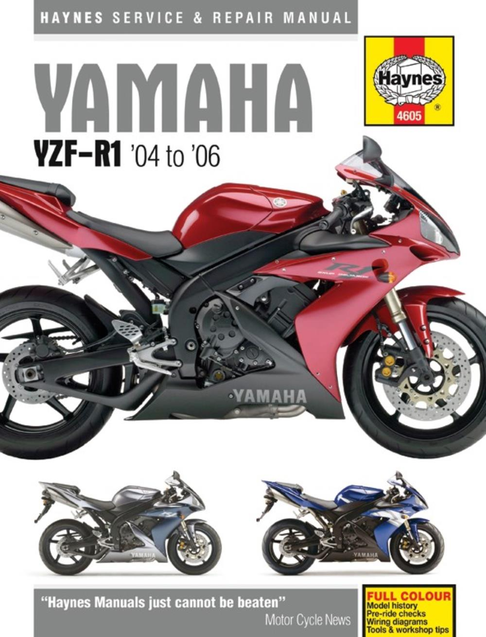 Image is loading Manual-Haynes-for-2006-Yamaha-YZF-R1-1000cc-