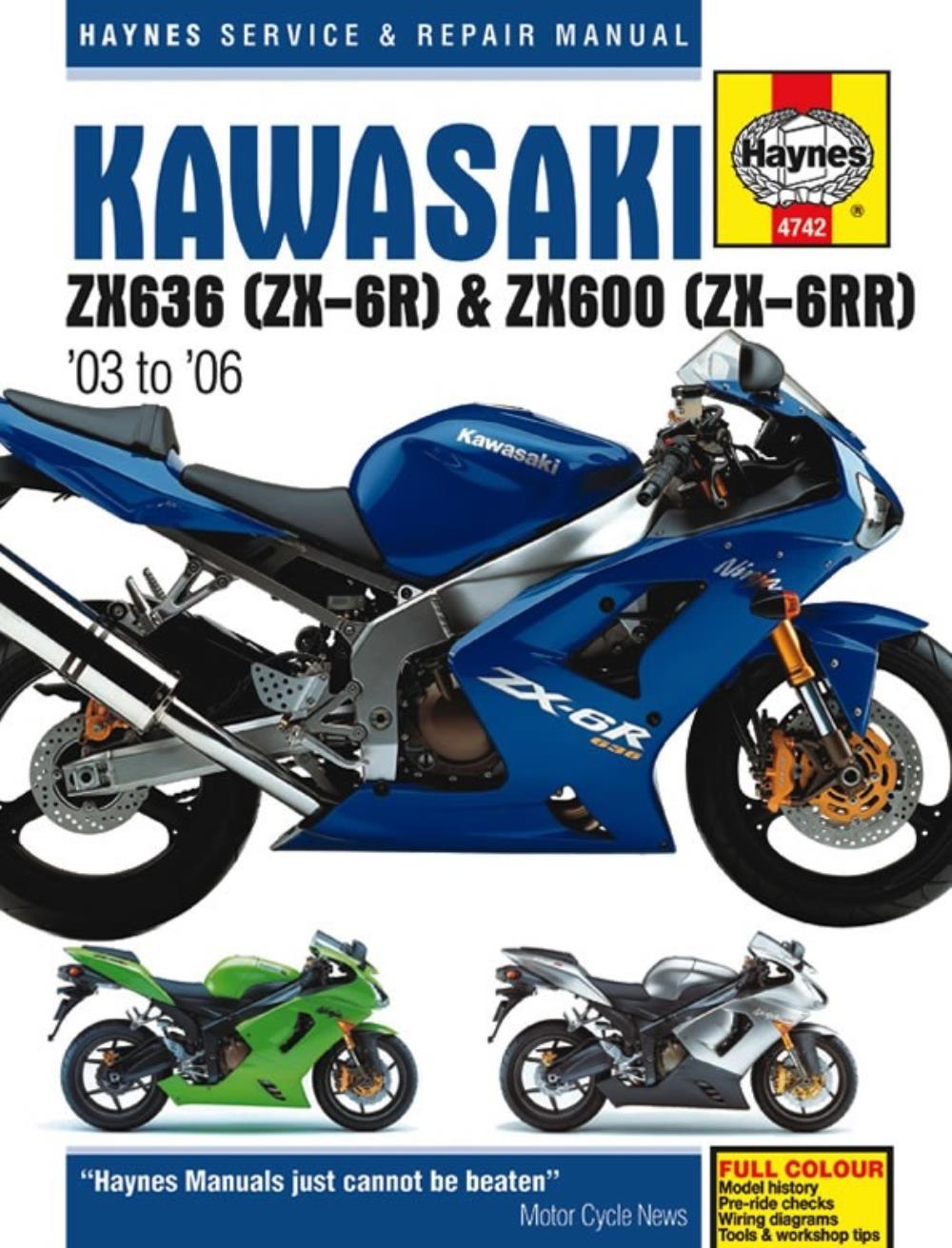 Image is loading Haynes-Manual-4742-KAW-ZX-6R-03-06