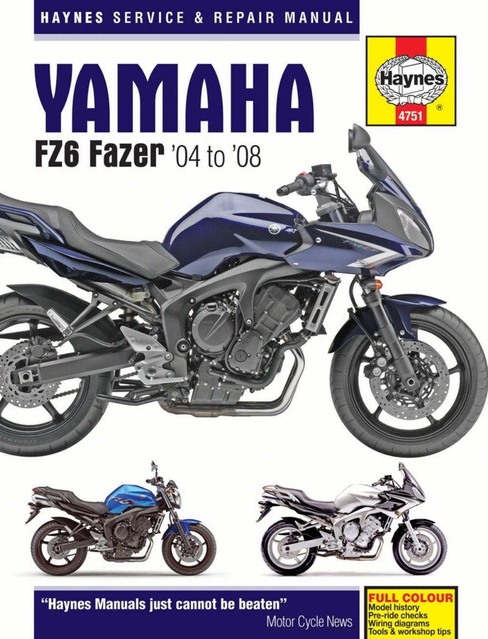 manual haynes for 2006 yamaha fz6 n naked no abs 1b37 1b39 1b3b rh ebay co uk