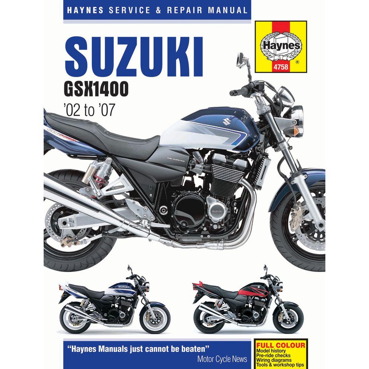 Image is loading Manual-Haynes-for-2007-Suzuki-GSX-1400-K7-