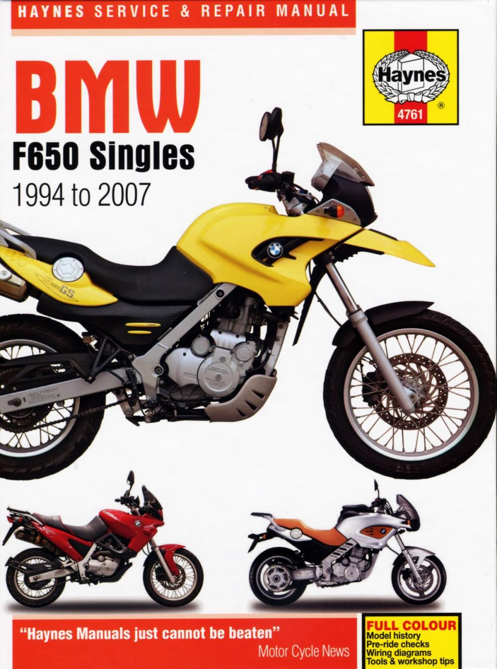 Manual Haynes For 2004 Bmw F 650 Cs Ebay