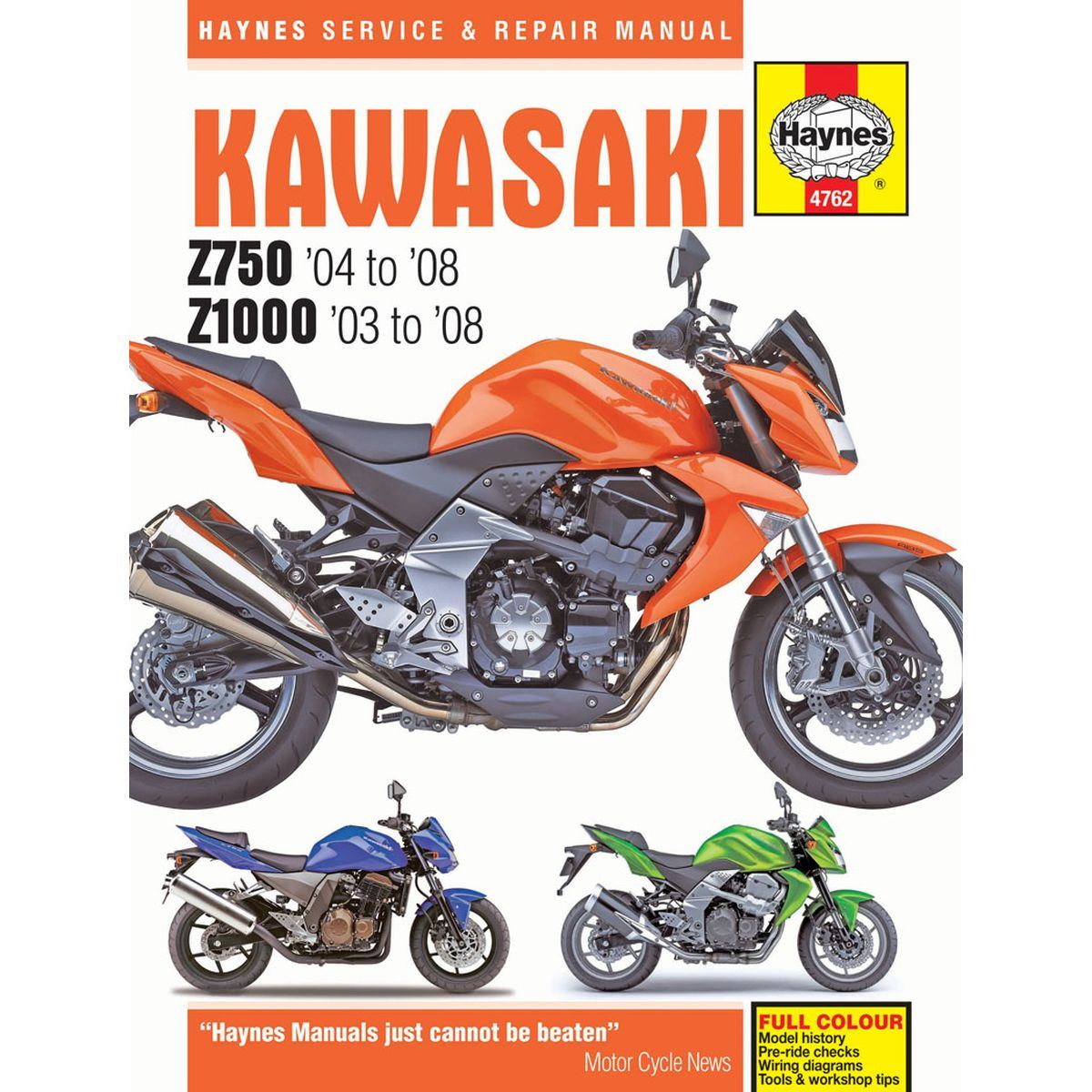 Manual Haynes For 2008 Kawasaki Z 750 Zr750l8f Ebay 1978 Wiring Diagram Image Is Loading