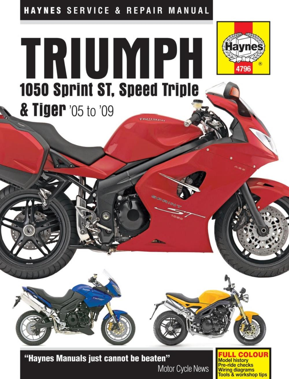 image is loading haynes-manual-4796-triumph-1050-st-speed-triple-