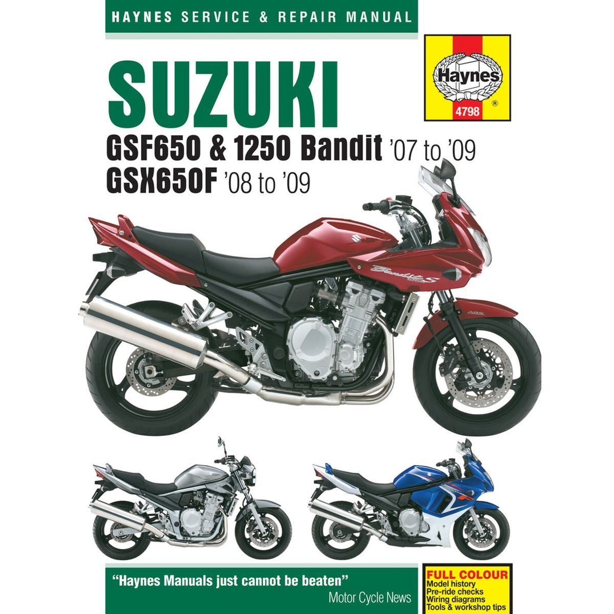 Suzuki gsf650, gsf1250 bandit repair manual 2007-2014 | haynes.