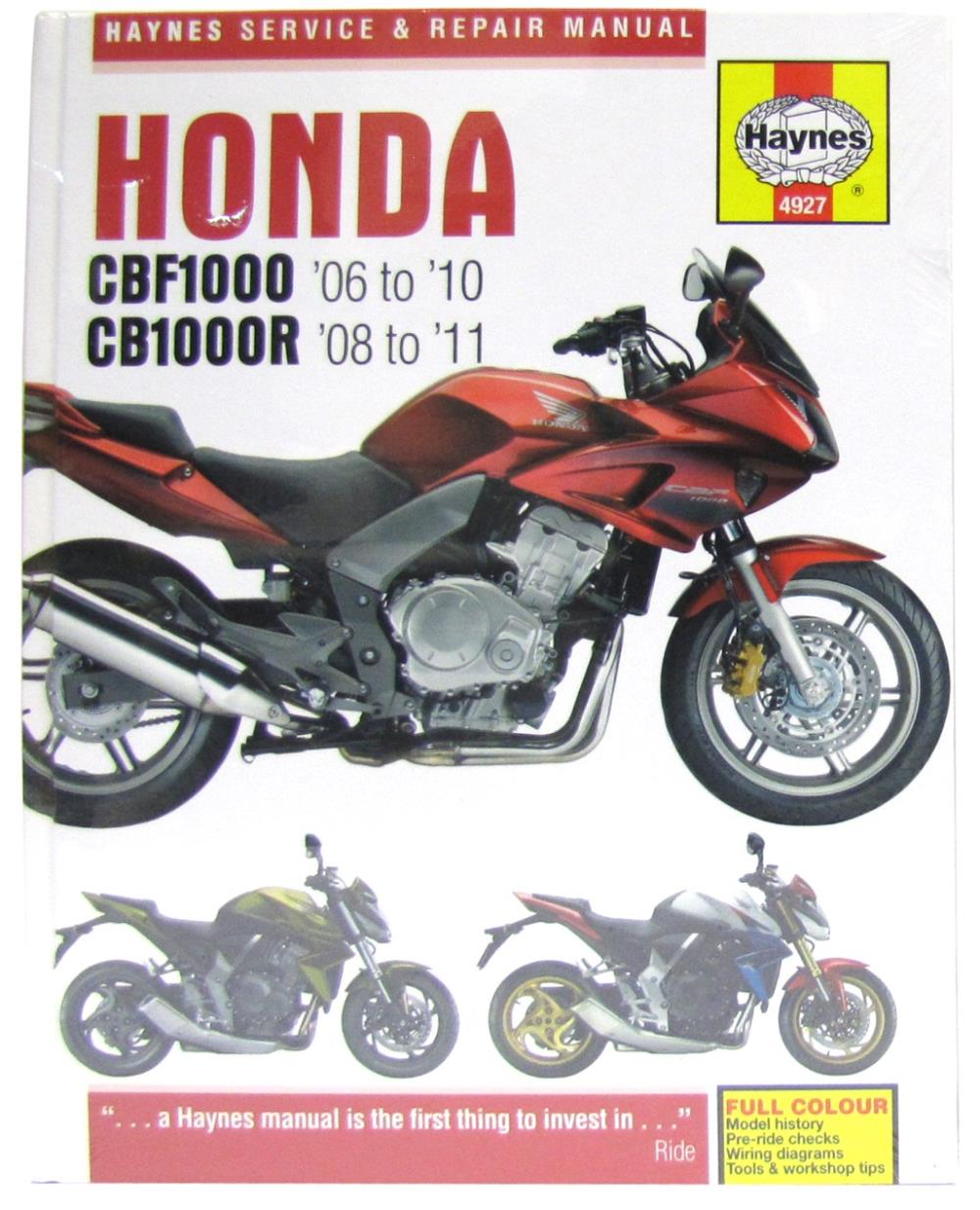 Workshop Manual Honda Cbf1000 06 10 Cb1000r 08 11 Ebay