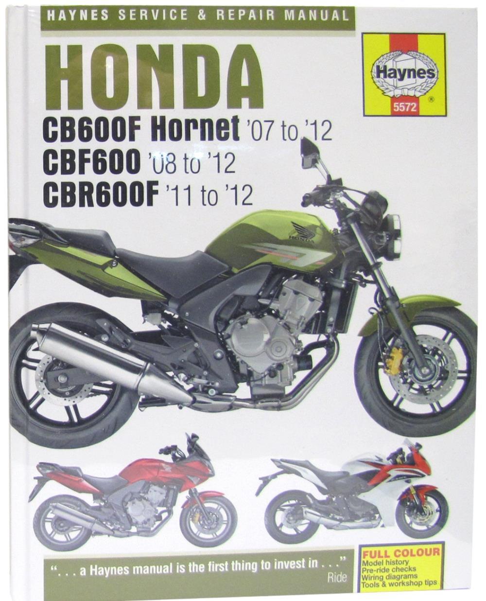 Image is loading Manual-Haynes-for-2009-Honda-CB-600-FA9-