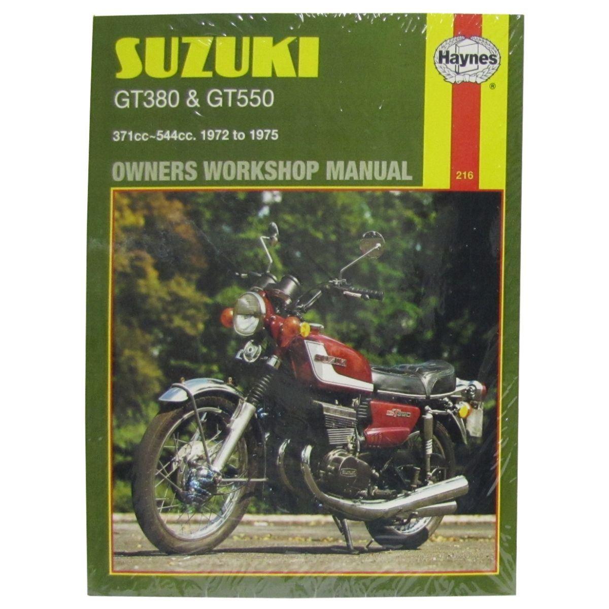 Workshop Manual Suzuki GT380 1972-1975, GT550 1972-1975 | eBay