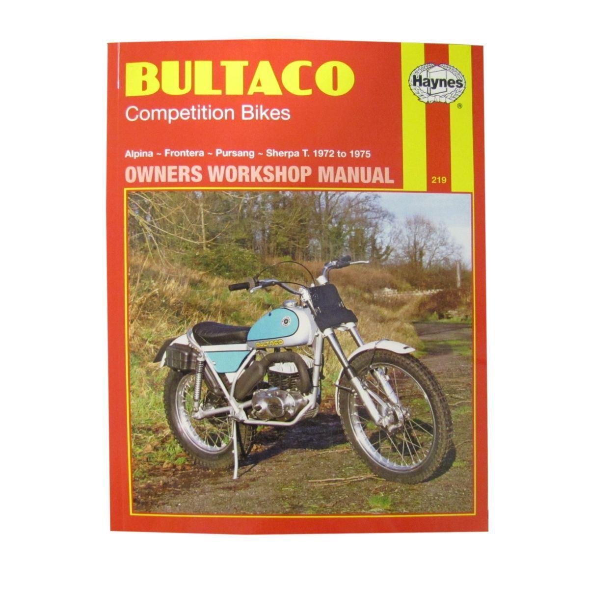 Image is loading Workshop-Manual-Bultaco-Alpina-Frontera-Pursang-Sherpa-T-