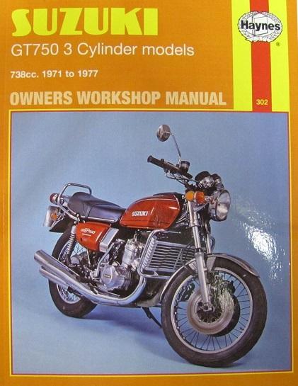 Workshop Manual Suzuki GT750 Triple 19 71-1977