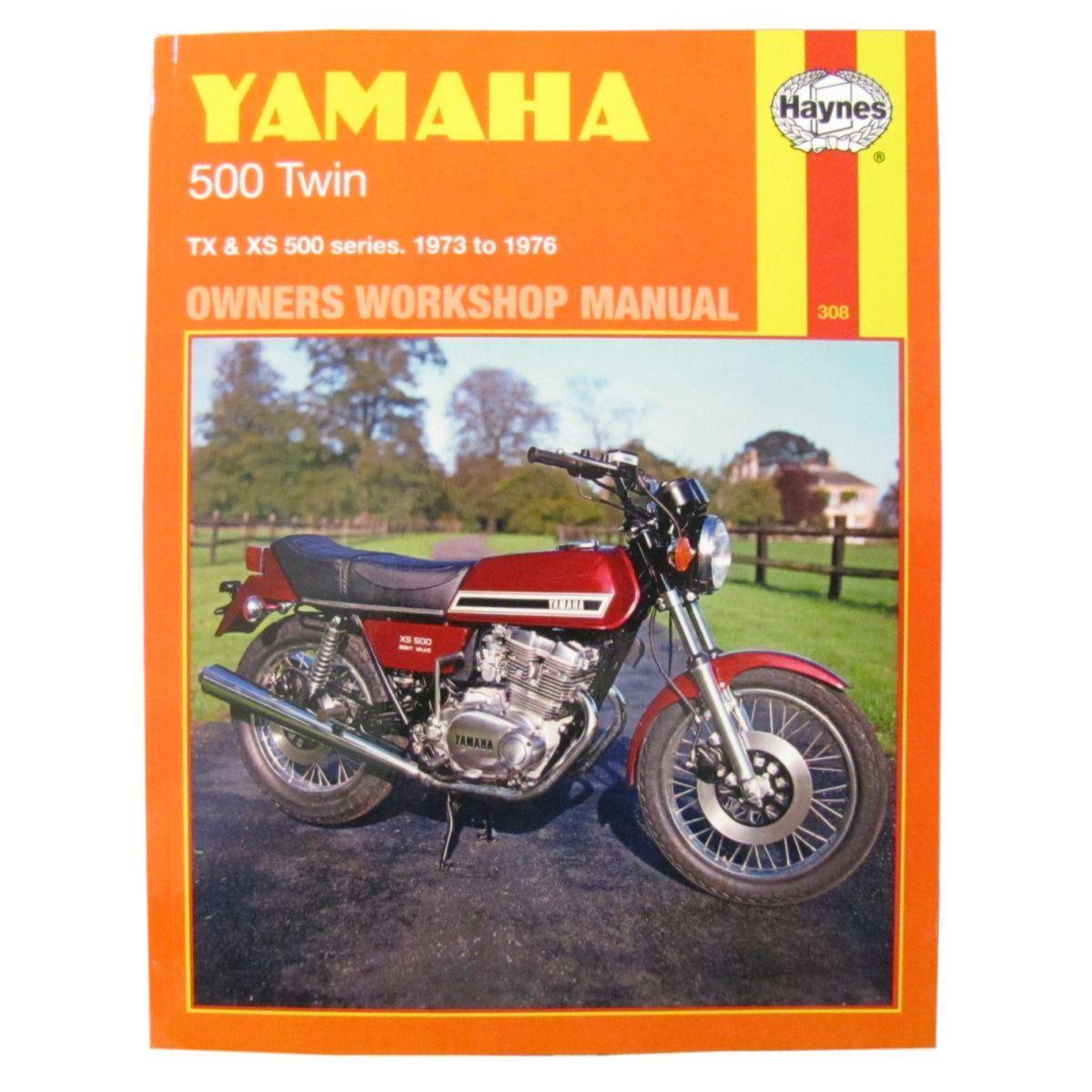 Image is loading Workshop-Manual-Yamaha-500-Twins-1973-1976