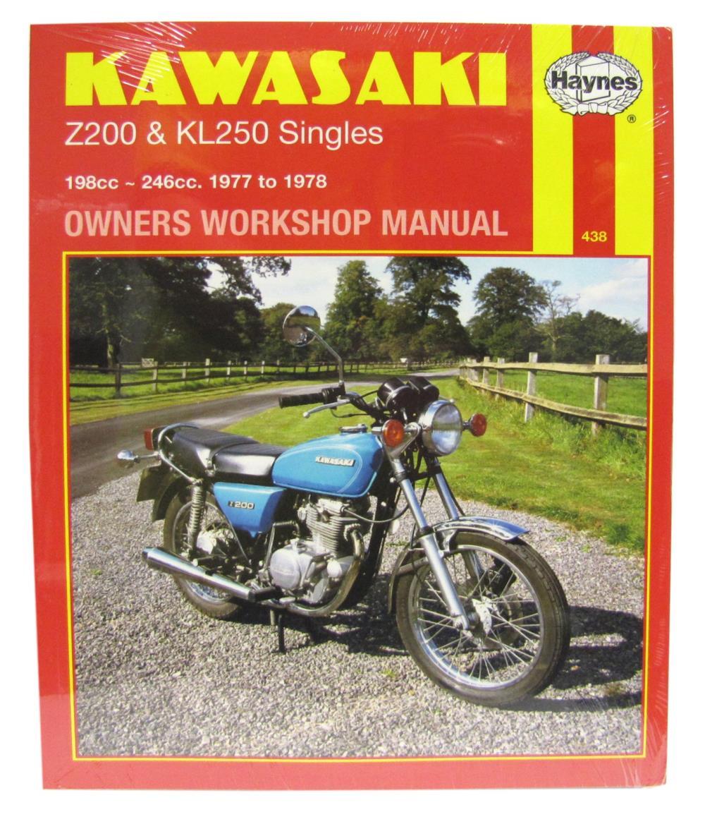 image is loading workshop-manual-kawasaki-z200-amp-kl250-singles