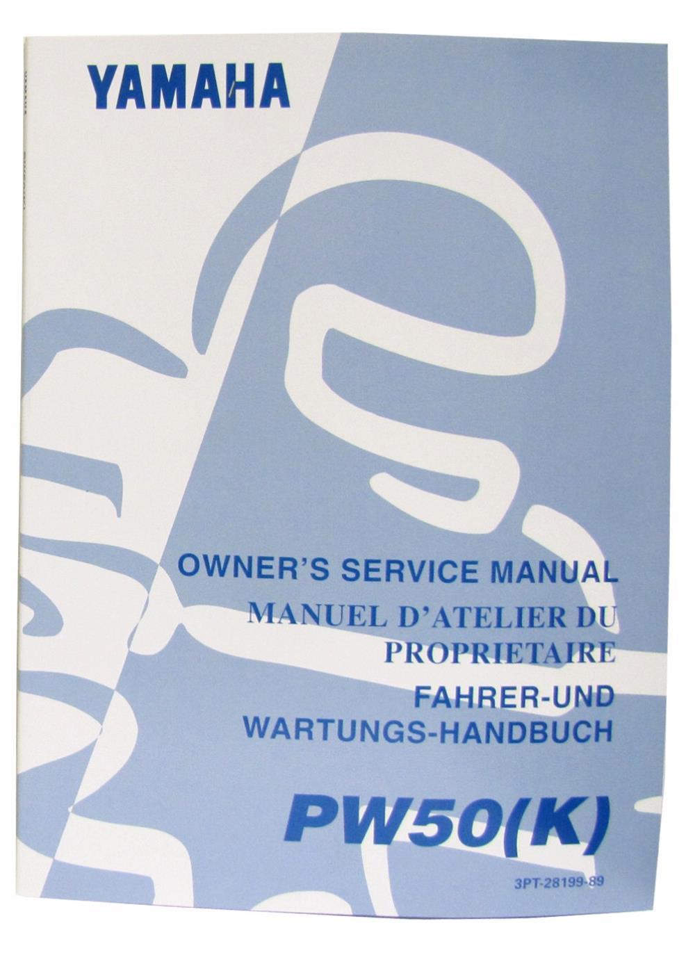 Workshop Manual Yamaha Pw50 1980 2002 Oe Service Ebay Wiring Diagram Image Is Loading O E