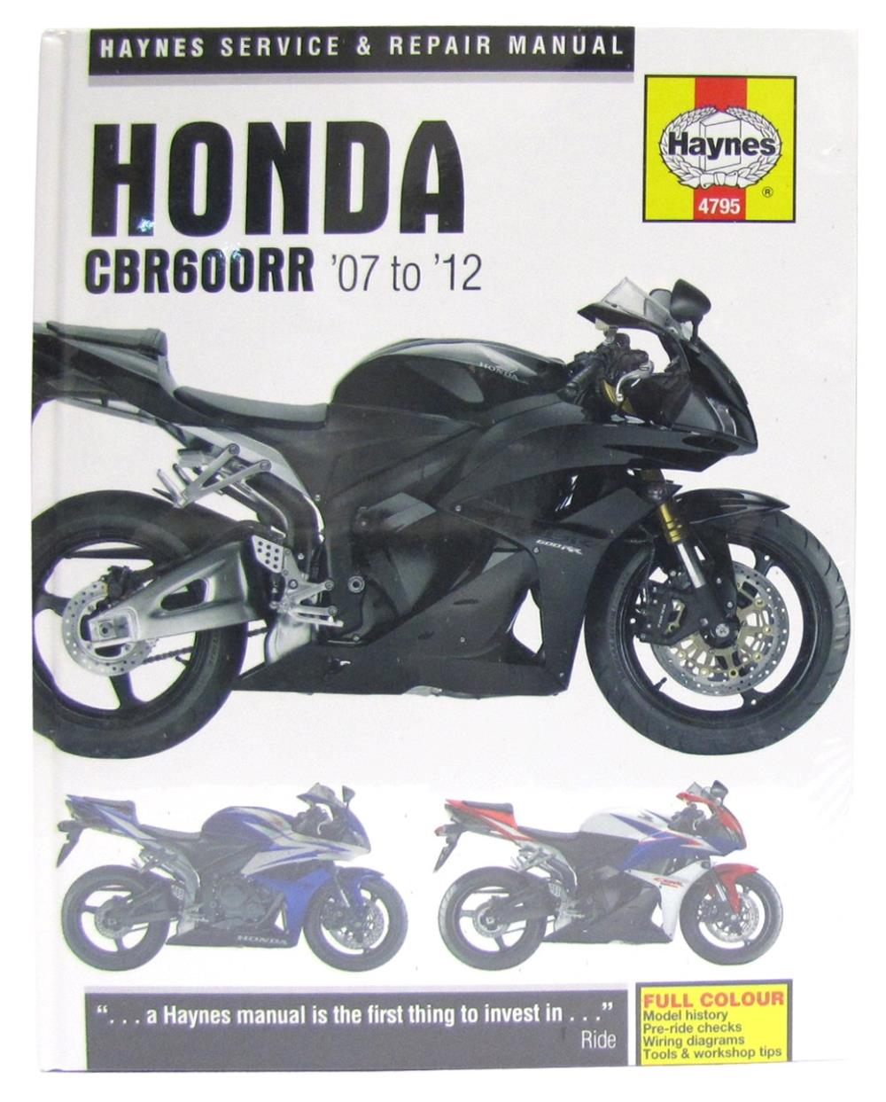 manual haynes for 2008 honda cbr 600 rr 8 ebay rh ebay co uk Honda 600RR 07 honda cbr600rr service manual