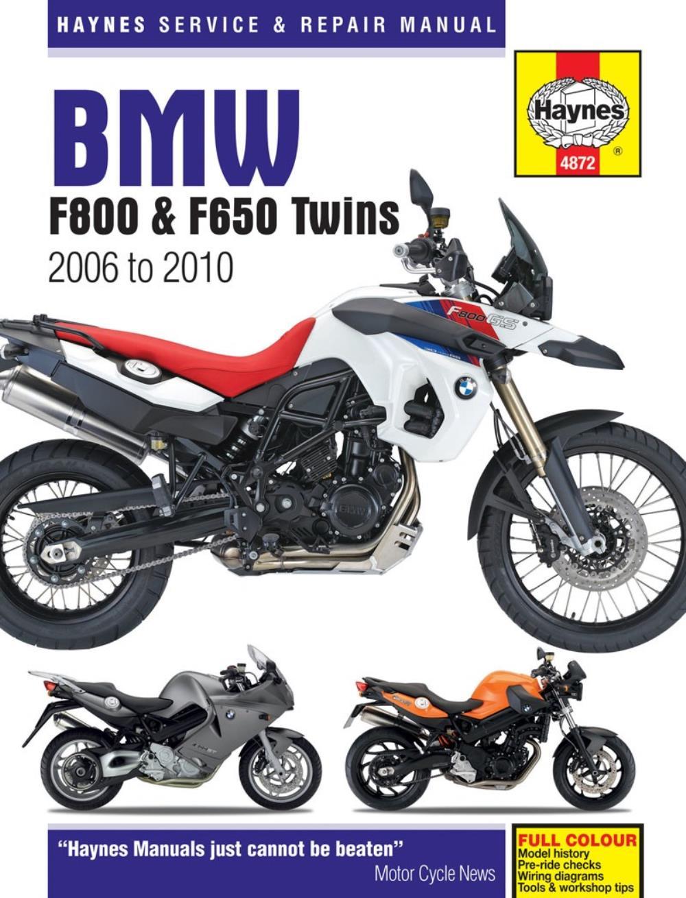 Manual Haynes For 2009 Bmw F 800 S Ebay