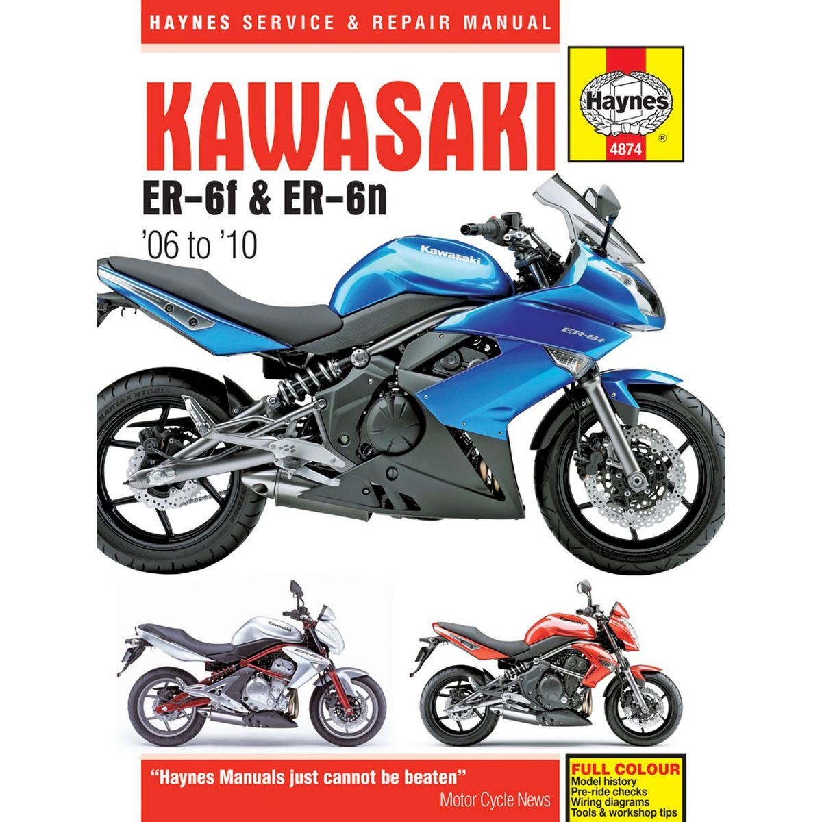 Manual Haynes for 2010 Kawasaki ER-6F (EX650CAF)