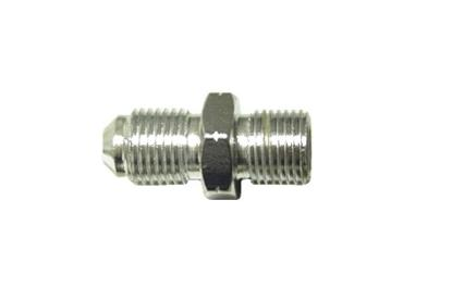 "Picture of Adaptor 10mm x 1.25mm Convex Chrome fits on to 1/8"" Hose End (Per 5)"