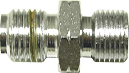 "Picture of Adaptor 10mm x 1.25mm Concave Chrome fits on to 1/8"" Hose End (Per 5)"