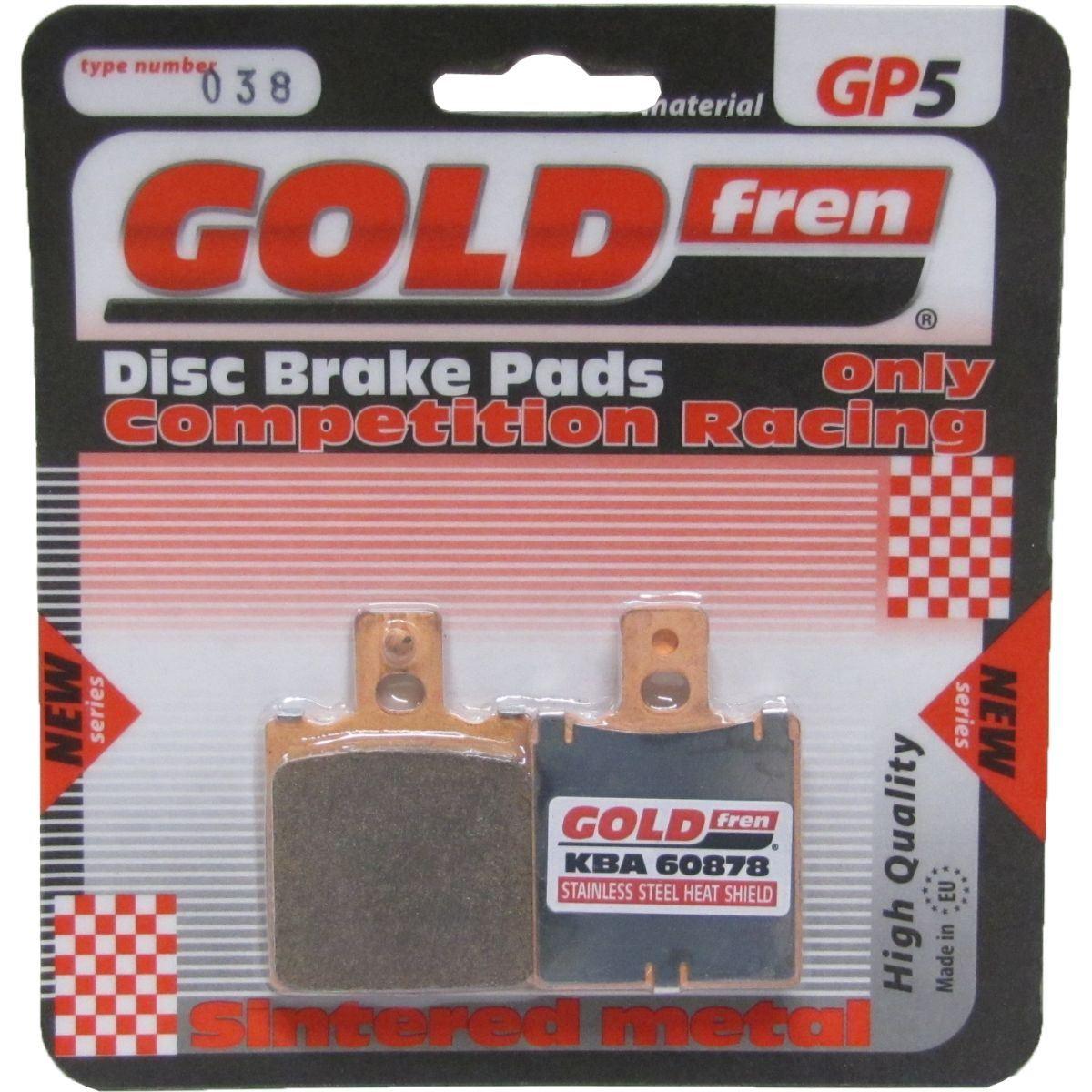 Goldfren GP5-038, VD911, VD948, FA47, FDB207/R, FDB705, SBS519 Disc Pads (Pair)
