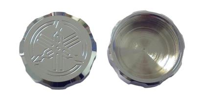 Picture of Master Cylinder Cap Chrome Aluminium screw-on Yamaha logo