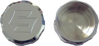 Picture of Master Cylinder Cap Chrome Aluminium screw-on Suzuki logo
