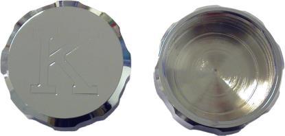 Picture of Master Cylinder Cap Chrome Aluminium screw-on Kawasaki logo
