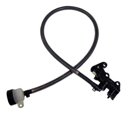 Picture of M/Cylinder Rear 40mm mount, hose, round bottle, with rod style