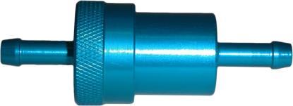 Picture of Fuel Filter 6mm Anodised Aluminium Blue