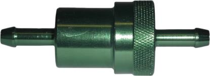 Picture of Fuel Filter 6mm Anodised Aluminium Green