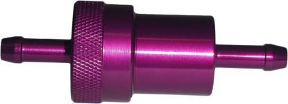 Picture of Fuel Filter 6mm Anodised Aluminium Purple