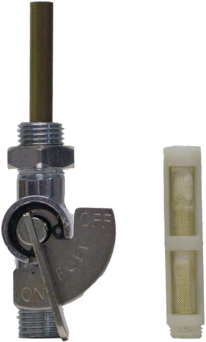 "Picture of Petrol Tap 1/2"" Chrome On/Off tap with nut."