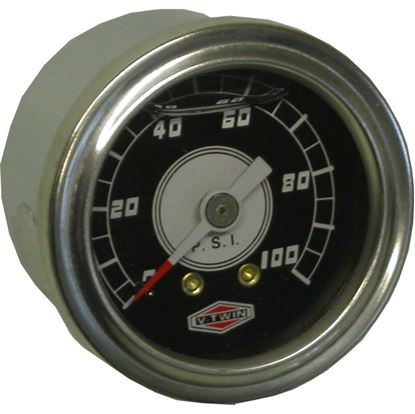 "Picture of Oil Pressure Gauge Liquid with 3/8"" UNF external thread"