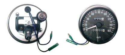 Picture of Clock Speedo Kawasaki Z's MPH up to 160 MPH (Set)