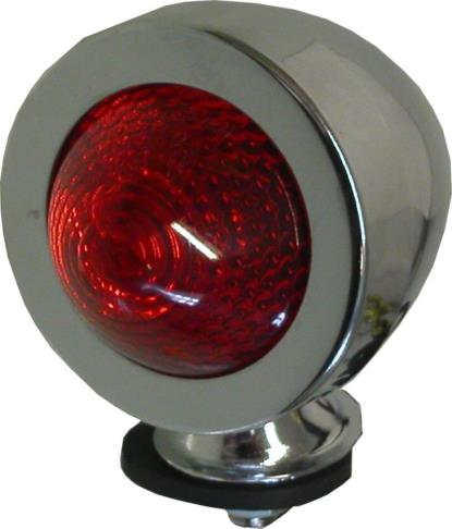Picture of Bullet Light Chrome New Type with Red Lens & E-Marked