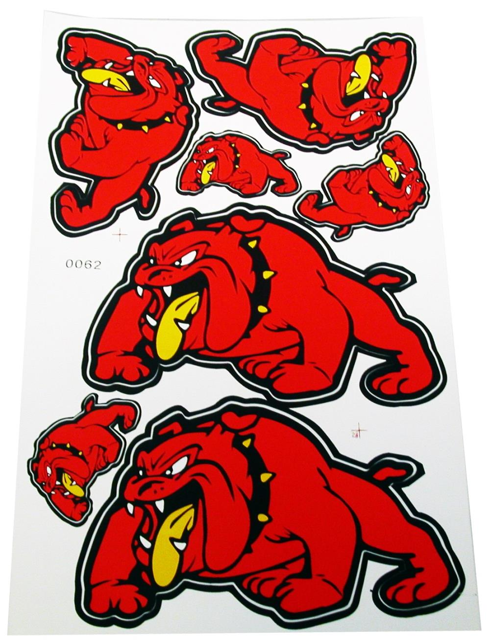 Image is loading stickers red bull dog 2 large 2 medium