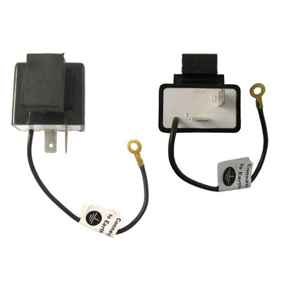 Picture of Flasher Can 12v Rectangle 2 Pin use with LED indicators