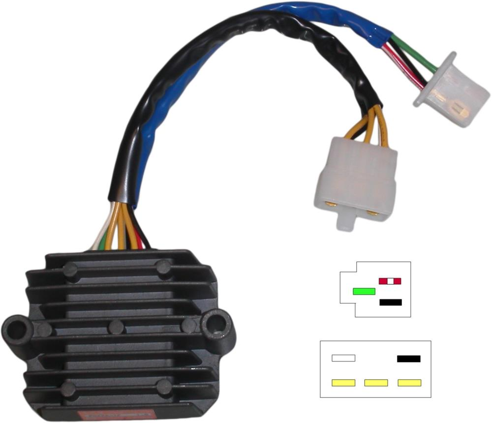 Regulator Rectifier Honda Cb750 Cb900 Dohc 8 Wires Sh236 12 Ebay Motorcycle Wiring Diagram Image Is Loading