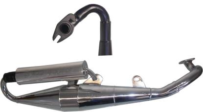 Picture of Exhaust Chrome Sports Aprilia Moped, Beta, Malaguti, Aerox, MBK