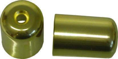 Picture of Bar End Cover Gold GS500E, GSX750F, RF900R, GSXR1100 (Pair)