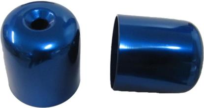 Picture of Bar End Cover Blue RGV250, GSXR750L,M (Pair)