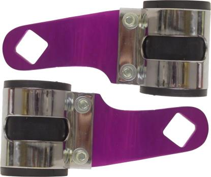 Picture of Headlight Brackets Purple Deluxe to fit forks 26mm to 37mm (Pair)