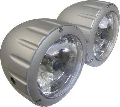 Picture of Headlight Complete Billet Alloy Twin Side Mount(E4) (Pair)