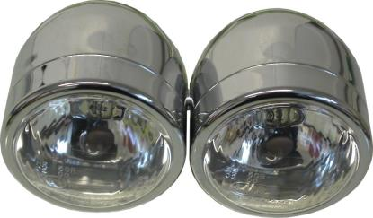 "Picture of Headlight Complete Chrome Twin 4.5""Side Mount(E Marked) (Pair)"