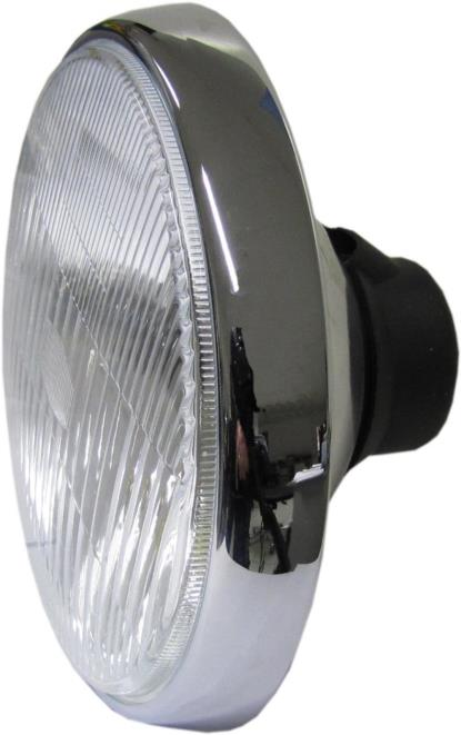 Picture of Headlamp & Rim Chrome Univers Round uses H4 Bulb