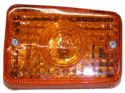 Picture of Complete Indicator Honda C50, C70, C90C Rear Chrom(Amber)