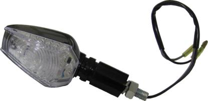 Picture of Complete Indicator LED Hexagon Black LongStem with Clear Lens E-Marked (Pair)