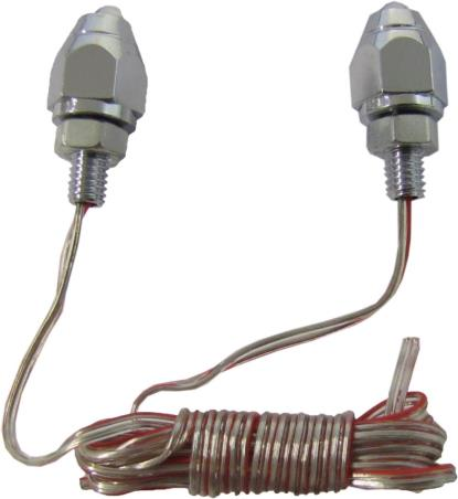 Picture of Marker Light Chrome 6mm Bolt with Blue LED Light (Pair)