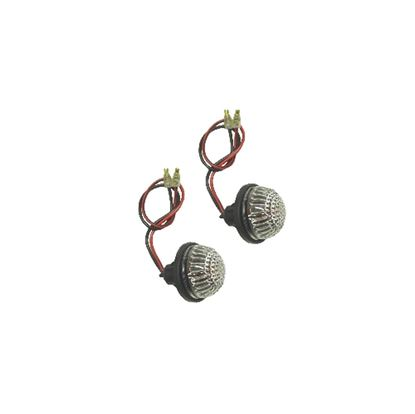 Picture of Complete Indicator Fairing Round Flush Mount with Clear Lens & Bulb (Pair)