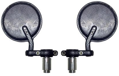 Picture of Mirror Bar End Carbon Look Round (Pair)